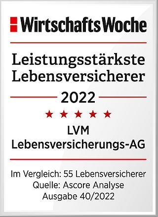 LVM-Direktversicherung: Finanzstärke mit Bestnote