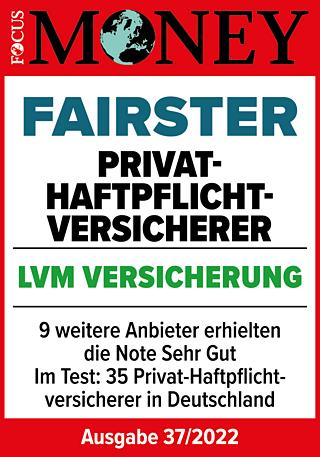 Laut FOCUS-MONEY: Faire Privat-Haftpflichtversicherung
