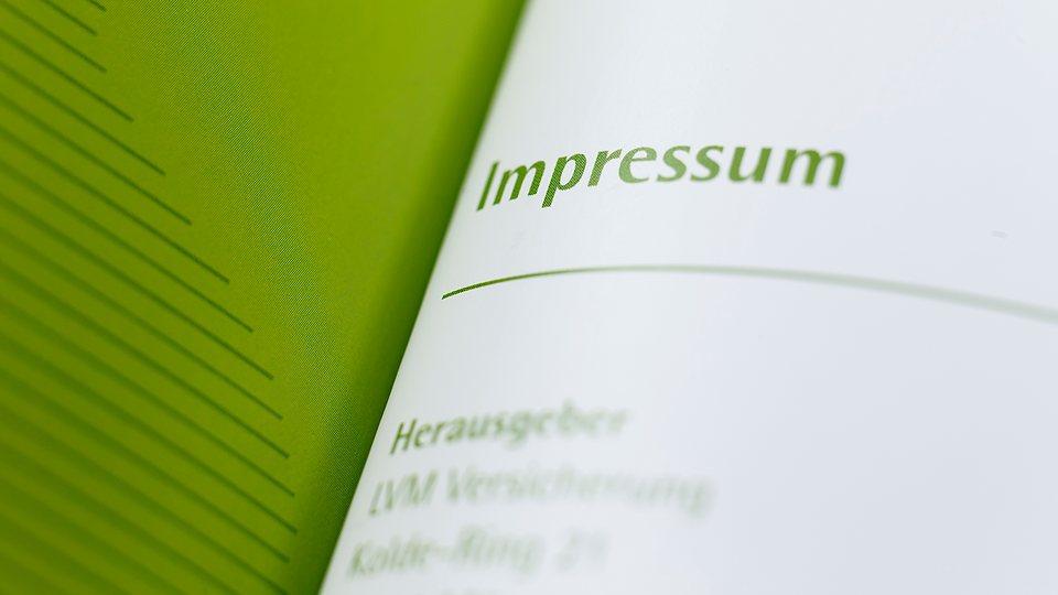 LVM als Versicherer: Impressum