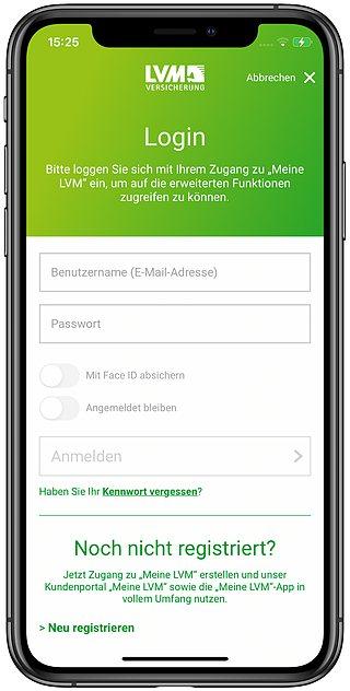 LVM-App-Log-in