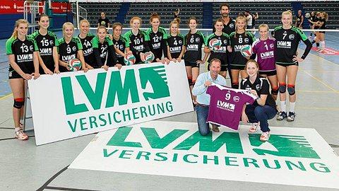 LVM als Förderer des Volleyballs: WVV-Nachwuchsteam