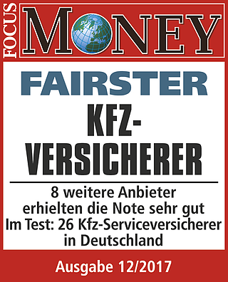 Kundenurteil bei FOCUS-MONEY: Fairster Kfz-Versicherer xt