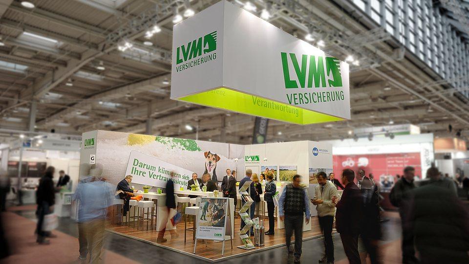 Die LVM Versicherung auf Messen