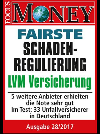 FOCUS-MONEY Testergebnis: LVM-Unfallversicherung mit Bestnote