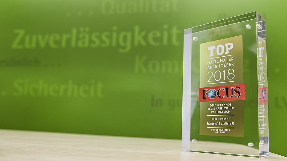 """LVM als Arbeitgeber: Auszeichnung """"bester Arbeitgeber"""""""