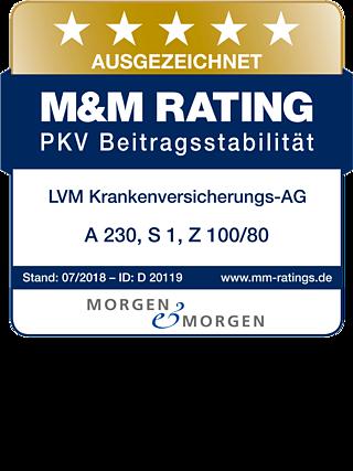 LVM-Krankenversicherung mit Bestnote